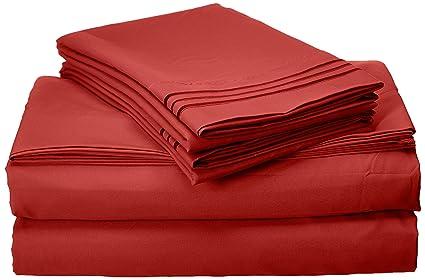 Elegance Linen Best Seller Luxury Bed Sheet Set 1500 Thread Count Egyptian  Quality WRINKLE FREE LUXURY