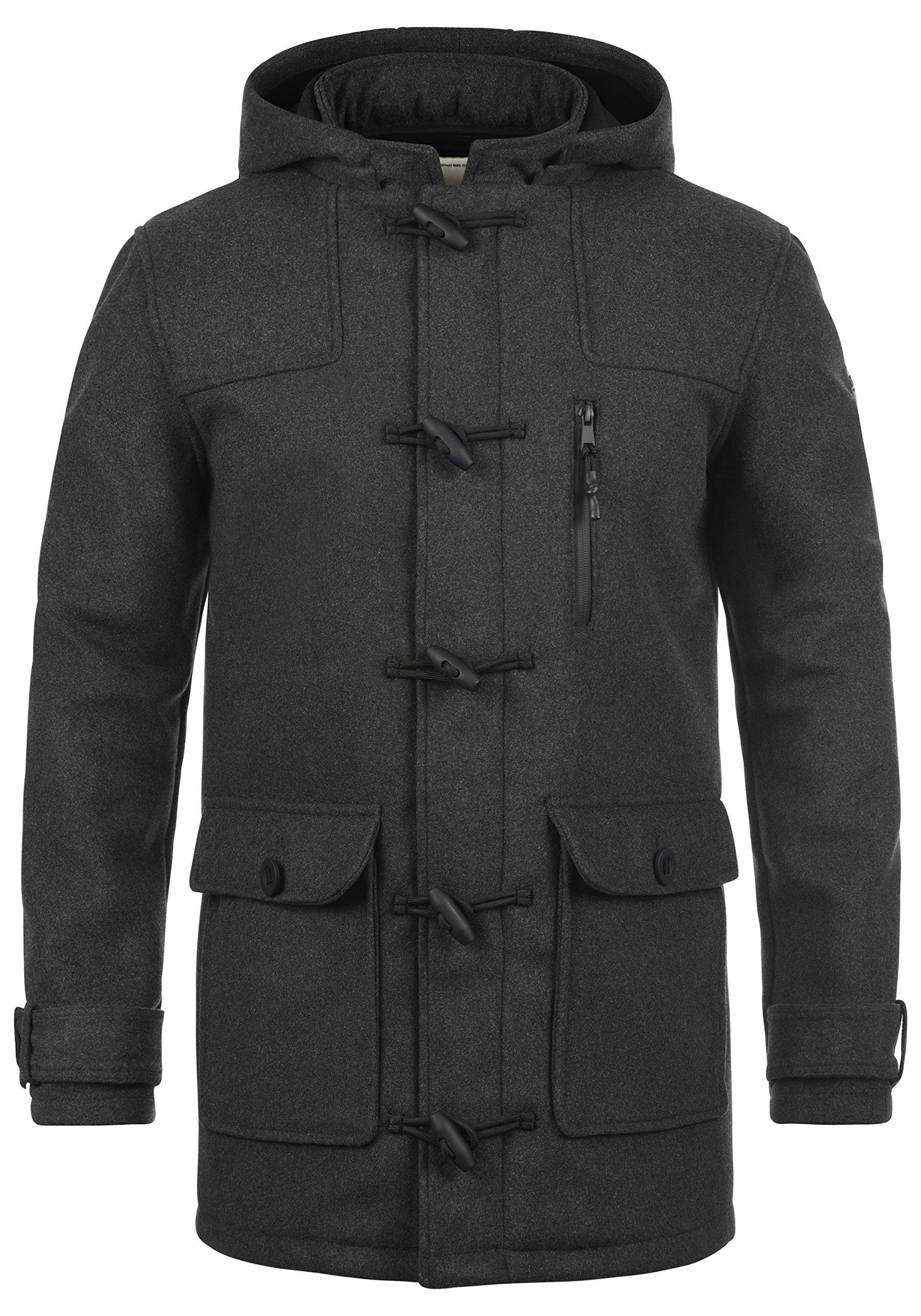 Redefined Rebel Mozart Duffle-Coat Abrigo Chaqueta De Lana para Hombre con Cuello Alto product