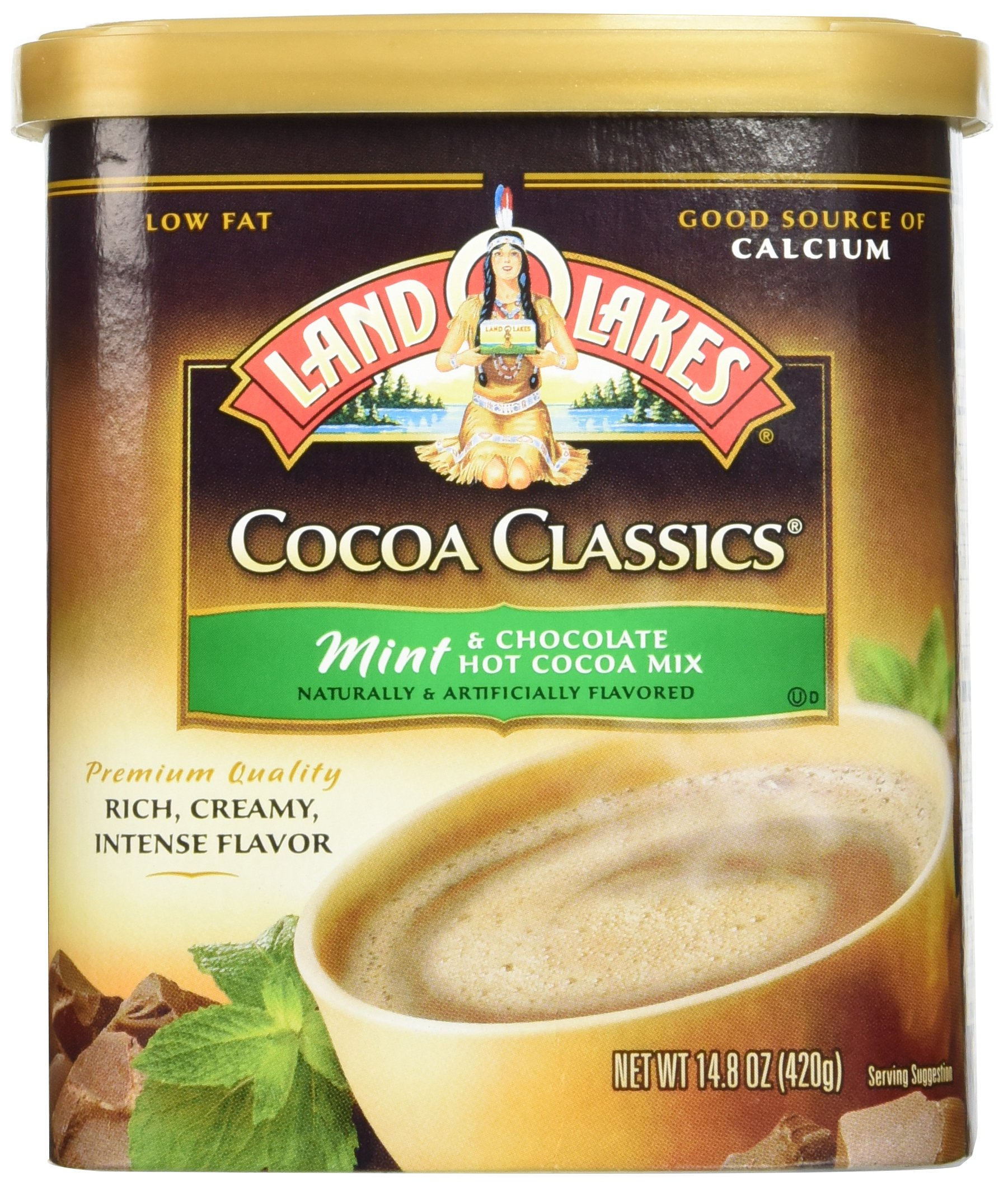 Land O'Lakes Hot Cocoa Classics Mix: Mint 14.8 ounce  (2 Pack)