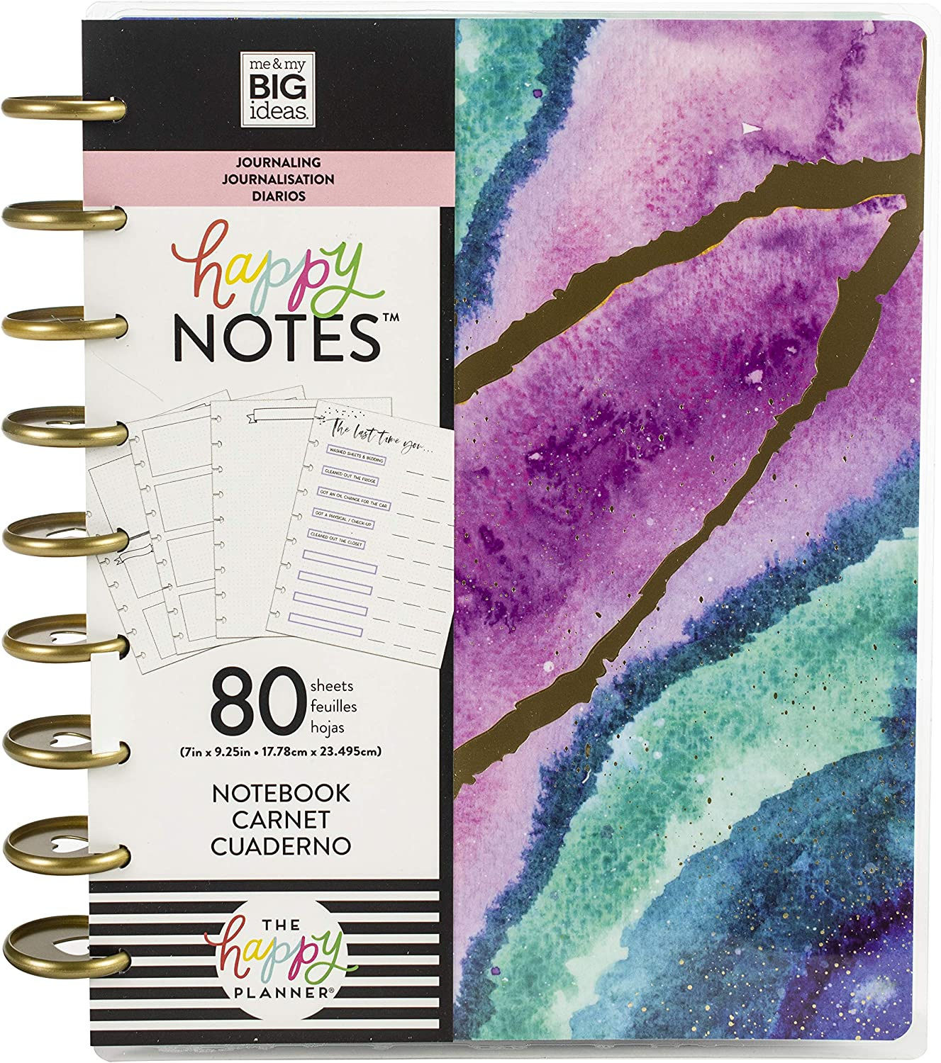 Me & My Big Ideas Happy Planner Medium Journaling Notebook W/80 Sheets-Agate