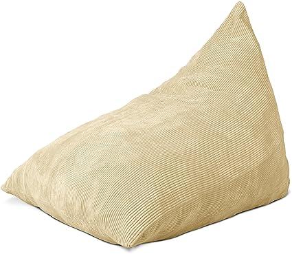 Lounge U0026 Co Corduroy Triangular Foam Chair, Beige