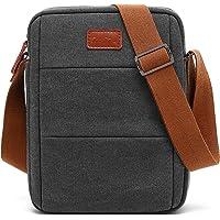 CoolBELL Messenger Bag iPad Carrying Case Handbag Tablet Briefcase Oxford Cloth Shoulder Bag Fits 10.6 Inches Tablet/iPad for Men/Women / College/Teen (Canvas Dark Grey)