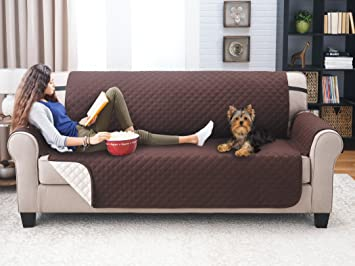 deluxe reversible sofa furniture protector coffee tan