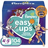 Pampers Easy Ups Space Jam Training Pants Girls and Boys, 4T-5T (Size 6), 104 Count