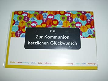 Kommunion Karte Text.Kommunionkarte Kommunion Glückwunschkarte Grusskarte Zur Kommunion