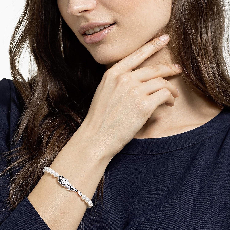 Swarovski Bracelet Nice Pearl M/étal Rhodi/é