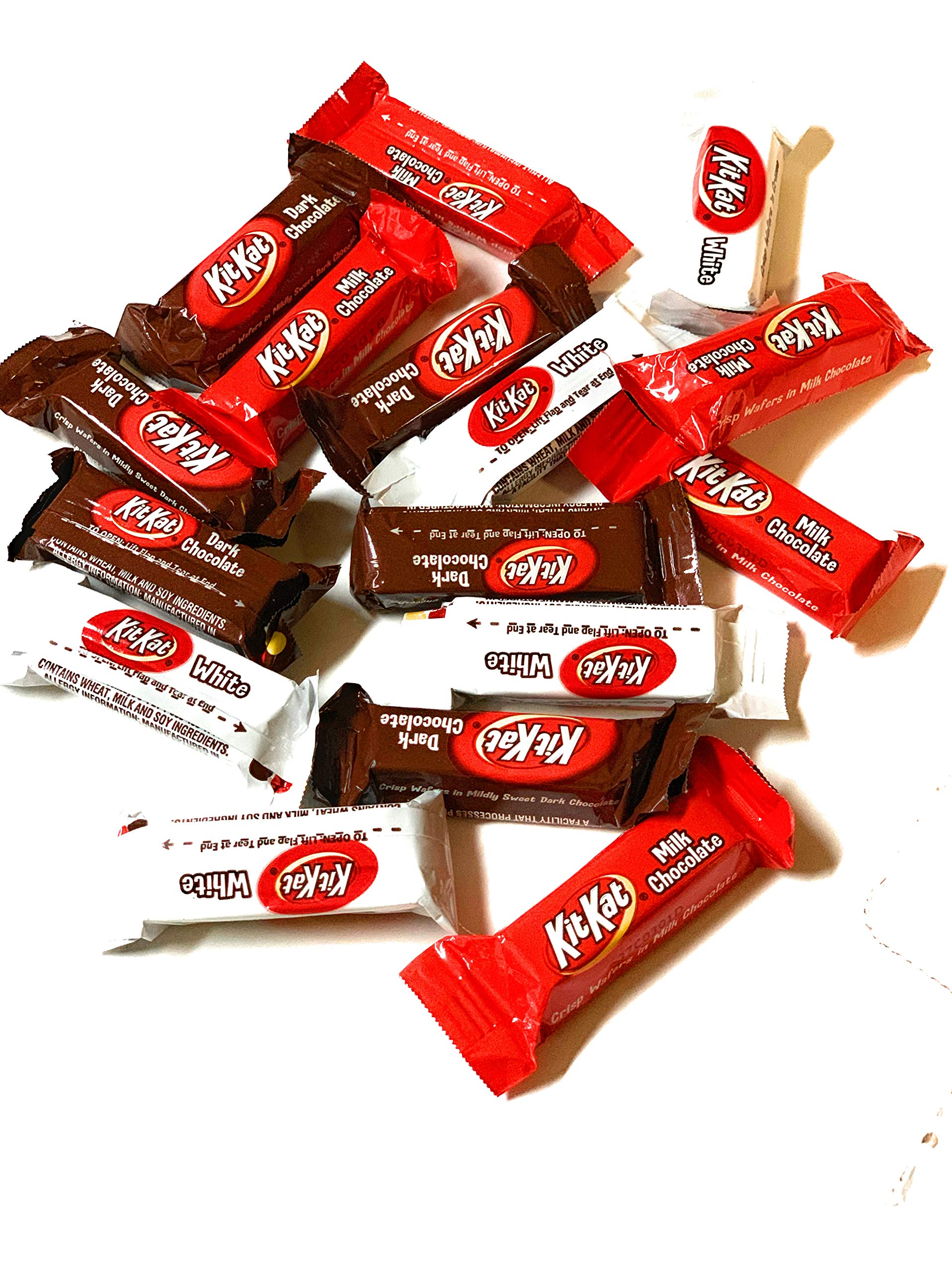 KitKat Mini Valentines Chocolate Assortment Mix Bulk RED, WHITE and Black - 5 LB by TamTam Candy