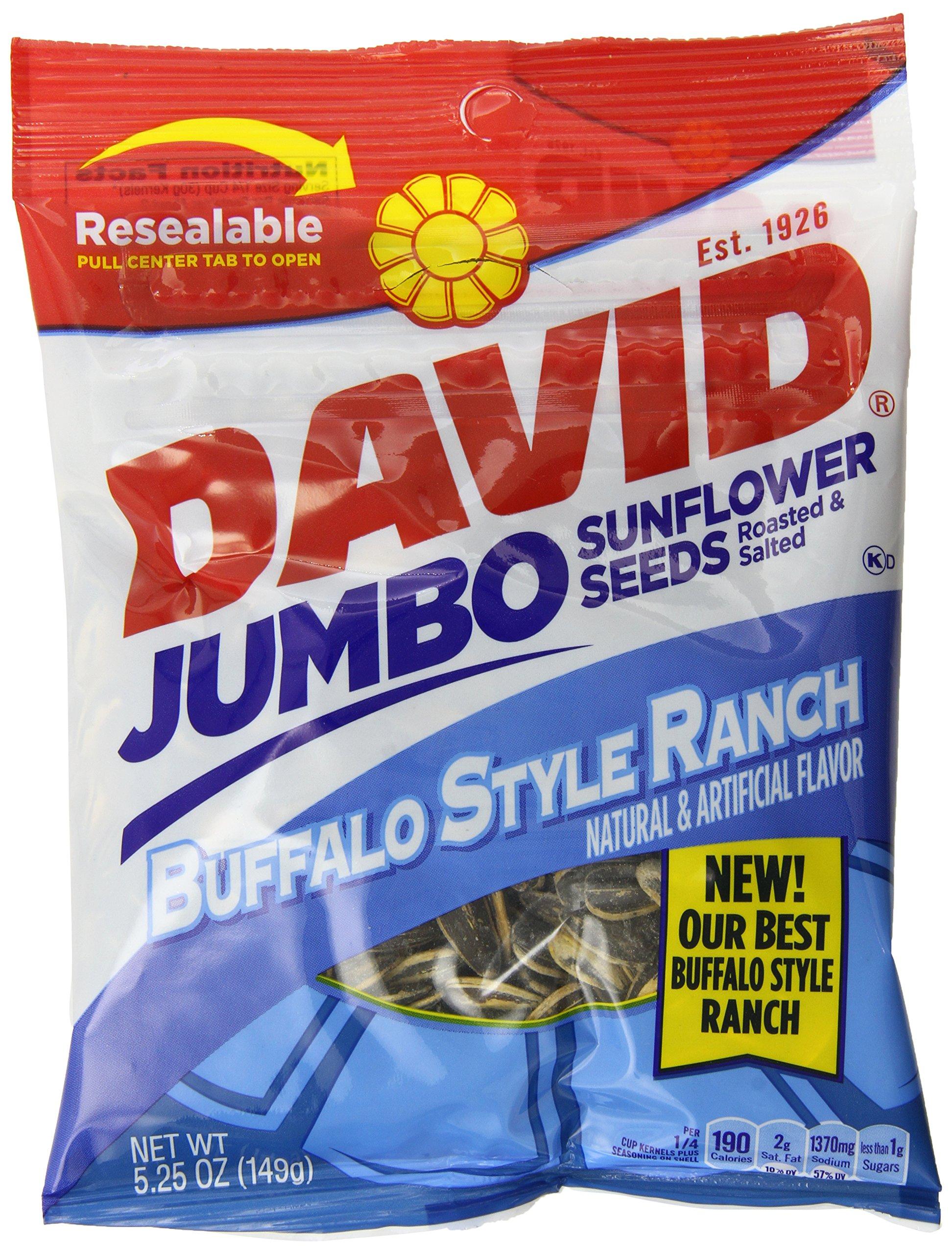 David Seeds Jumbo Sunflower, Buffalo Ranch, 5.25 Ounce (Pack of 12)