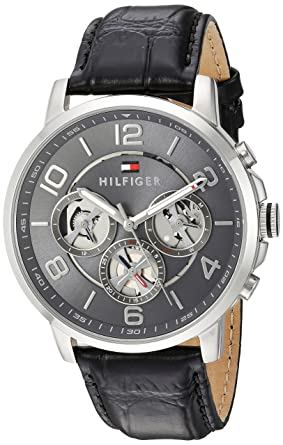 Tommy Hilfiger Analogue Grey Dial Men's Watch - 1791289