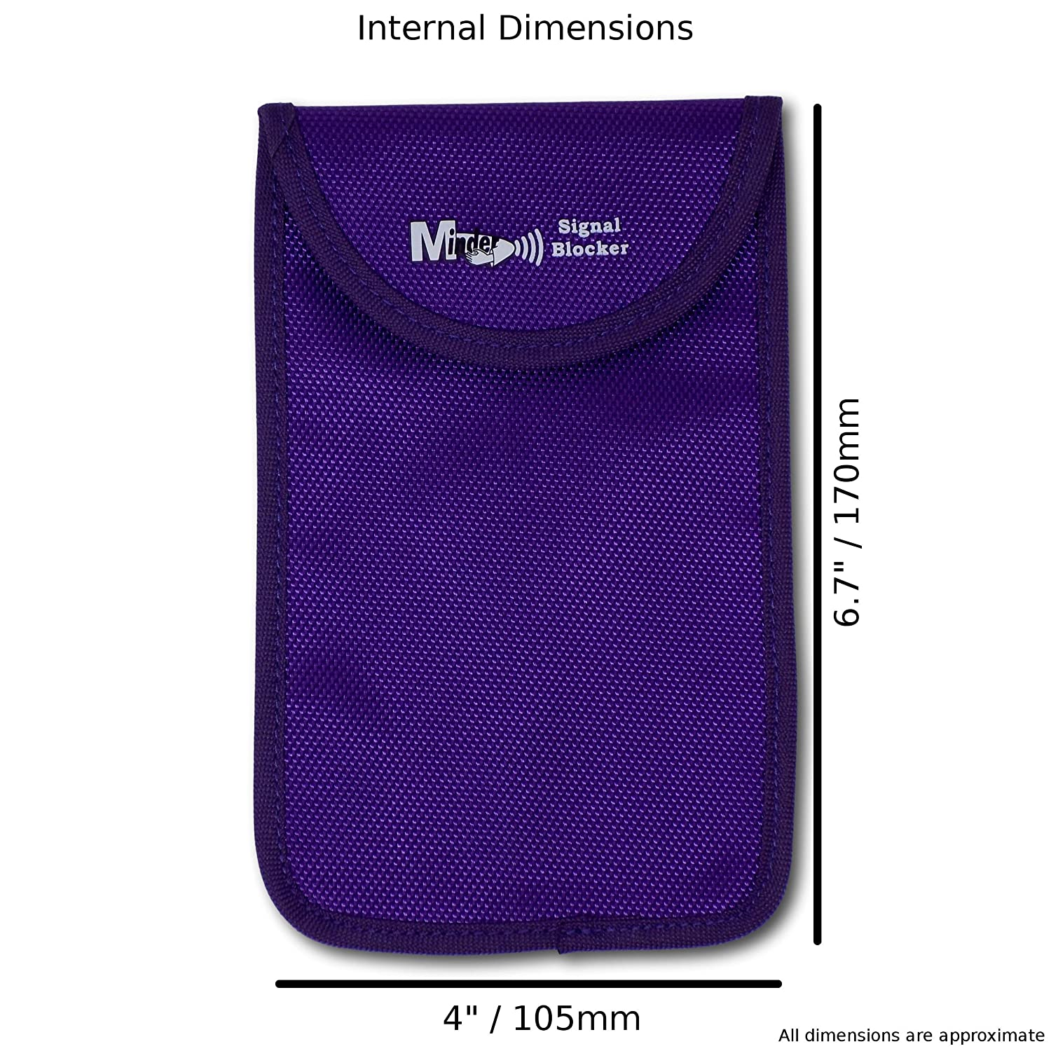 Minder Signal Blocker Faraday Bag Protection Security for WIFI//GSM//LTE//NFC//RFID Mini Purple Signal Jamming Case with RFID Blocking Pouch for Keyless Entry//Start Car Keys and Mobile Phones