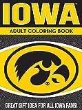 NCAA Iowa Hawkeyes Unisex Adult Coloring Bookncaa Adult Coloring Book, Yellow, 96 Coloring Pages