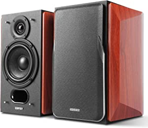 Edifier P17 Passive Bookshelf Speakers - 2-Way Speakers with Built-in Wall-Mount Bracket - Perfect for 5.1, 7.1 or 11.1 Side/Rear Surround Setup - Pair - Needs Amplifier or Receiver to Operate