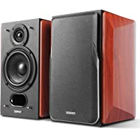 Edifier P17 Passive Bookshelf Speakers - 2-Way Speakers with Built-in Wall-Mount Bracket - Perfect for 5.1, 7.1 or 11.1 Side/Rear Surround Setup - Pair