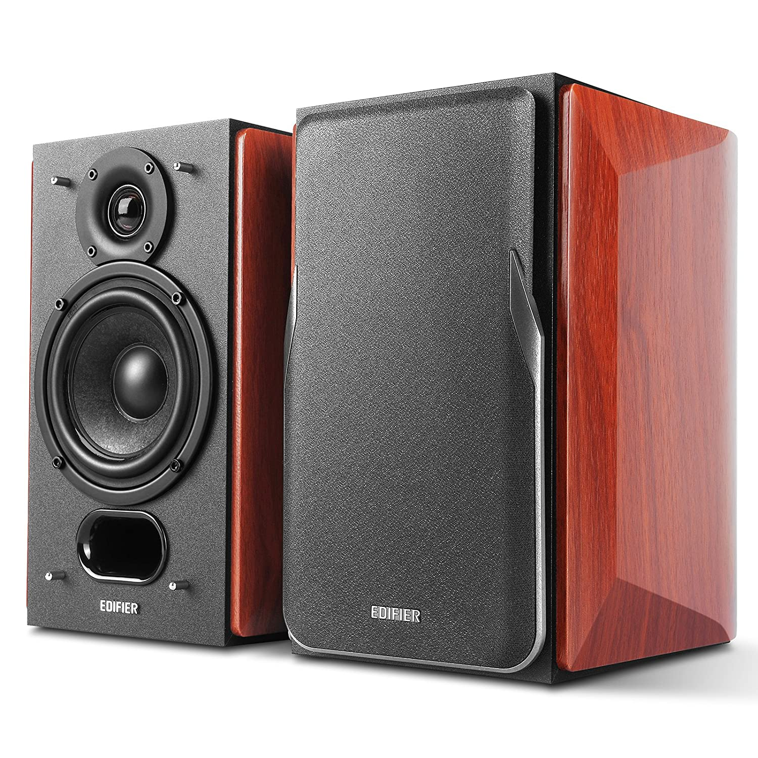 Edifier P17 Passive Bookshelf Speakers - 2-Way Speakers with Built-in Wall-Mount Bracket - Perfect for 5.1, 7.1 or 11.1 Side/Rear Surround Setup - Pair edifier-p17-brown