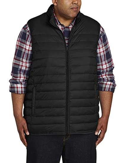 7ede4a0be Amazon Essentials Men's Big & Tall Lightweight Water-Resistant Packable  Puffer Vest fit by DXL