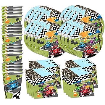 Amazoncom Race Car Racing Birthday Party Supplies Set Plates