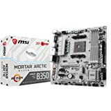 MSI B350M Mortar Arctic - Placa Base Arsenal (AMD AM4 Chipset B350, DDR4 Boost, Steel Armor, Gaming LAN, Audio Boost, VR Ready, Gaming Leds, Military Class V)