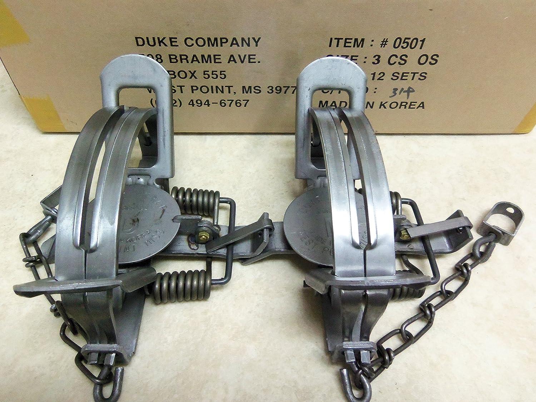 Amazon.com : 2 Duke #3 CS Offset Traps Coyote Bobcat 0501 : Sports & Outdoors