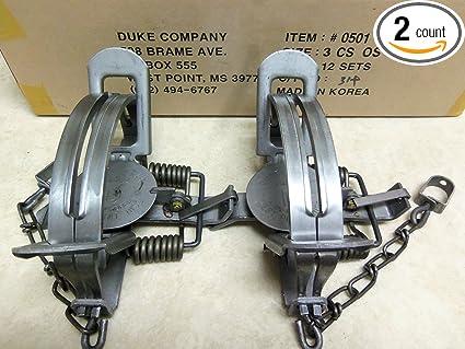 Amazon.com: 2 Duke # 3 CS compensar trampas Coyote Bobcat ...