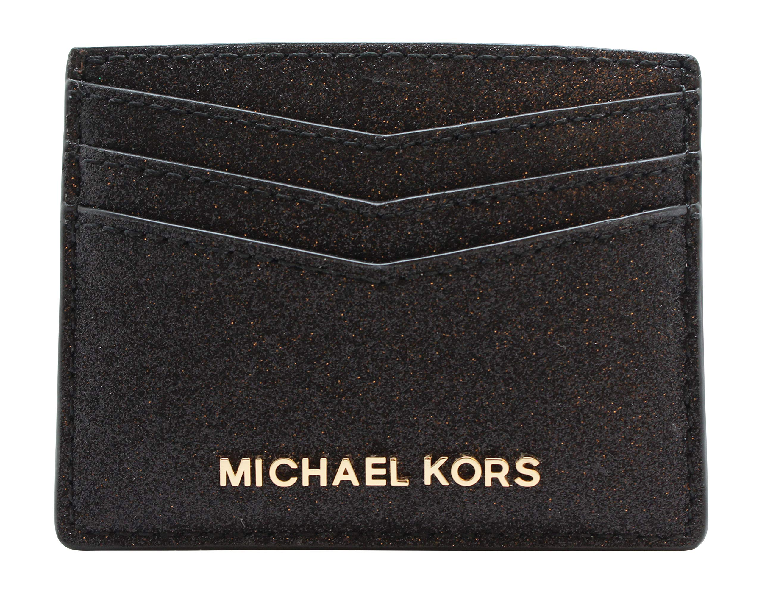 Michael Kors Giftables Large Card Holder Black Glitter by Michael Kors (Image #1)