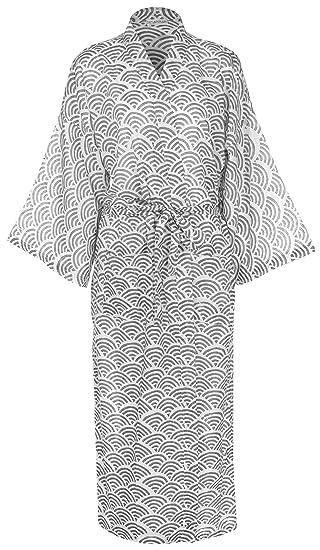 Ladies Lightweight Cotton Dressing Gown - Kimono Robe - 100% cotton ...