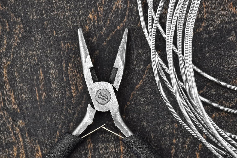 Black Handle SE LF06R 5-Inch Mini Diagonal Plier Rounded Tip Premium Quality