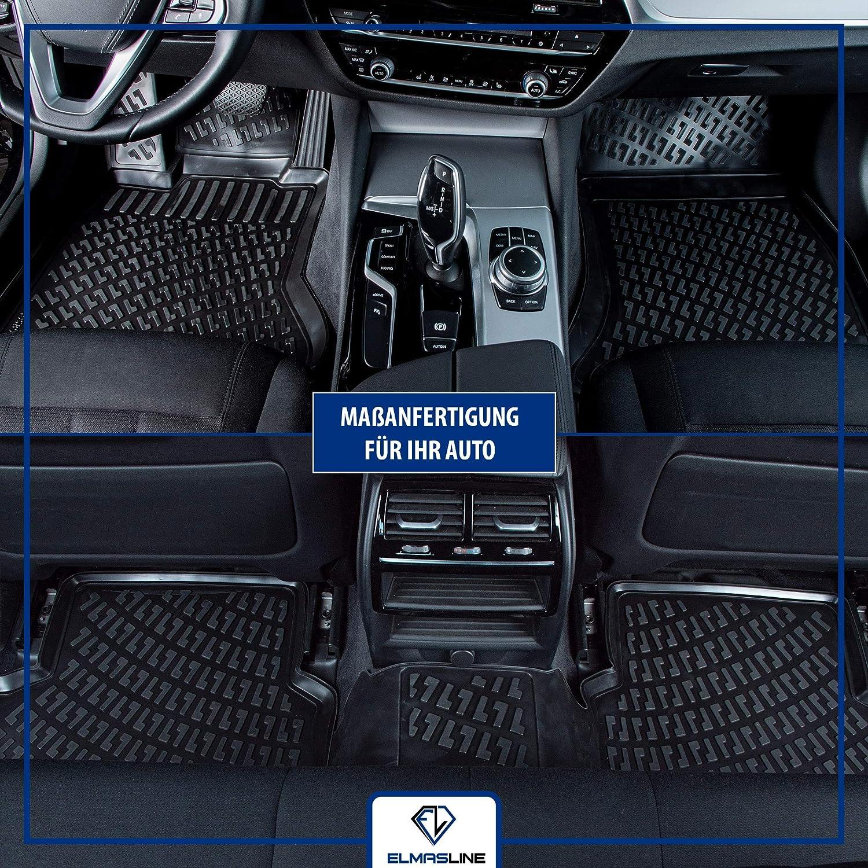 Elmasline Design 3d Gummimatten Set Für Vw Golf 5 Baujahr 2003 2009 Extra Hoher 5cm Rand Auto