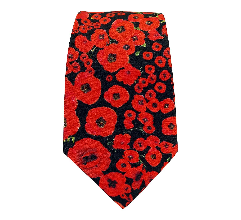 Silk Poppy Tie 2