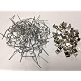 """SSI Greenhouse glazing 50 """"w"""" wire clips and 50 """"z"""" overlap clips"""