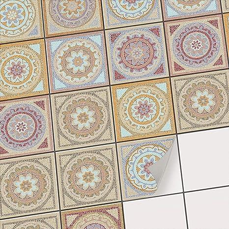creatisto Fliesenaufkleber für Bad Deko u. Küche Fliesensticker |  Mosaikfliesen - Vinyl Fliesensticker | Dekorative Fliesenfolie für  Wandfliesen | ...