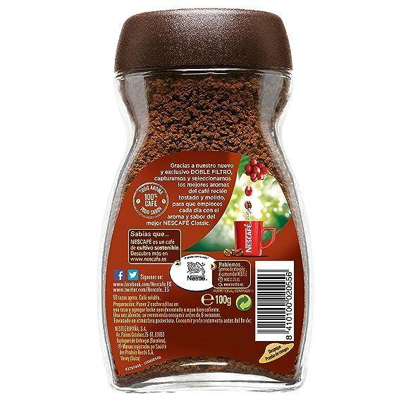 Nescafé Classic Natural - Café Soluble - 3 Paquetes de 100 g: Amazon.es: Alimentación y bebidas