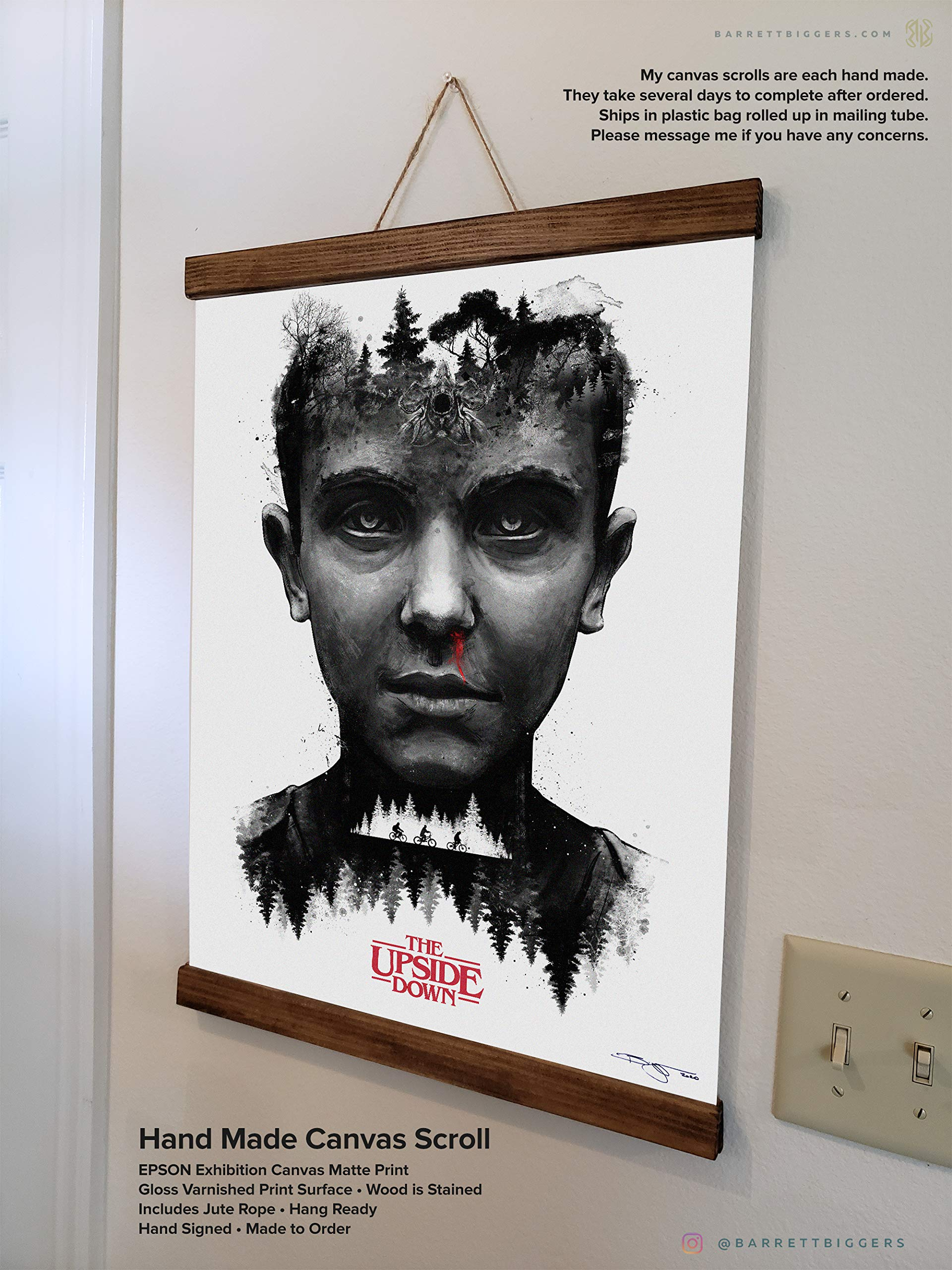 Stranger Things Inspired Eleven Painting Buy Online In Aruba At Desertcart