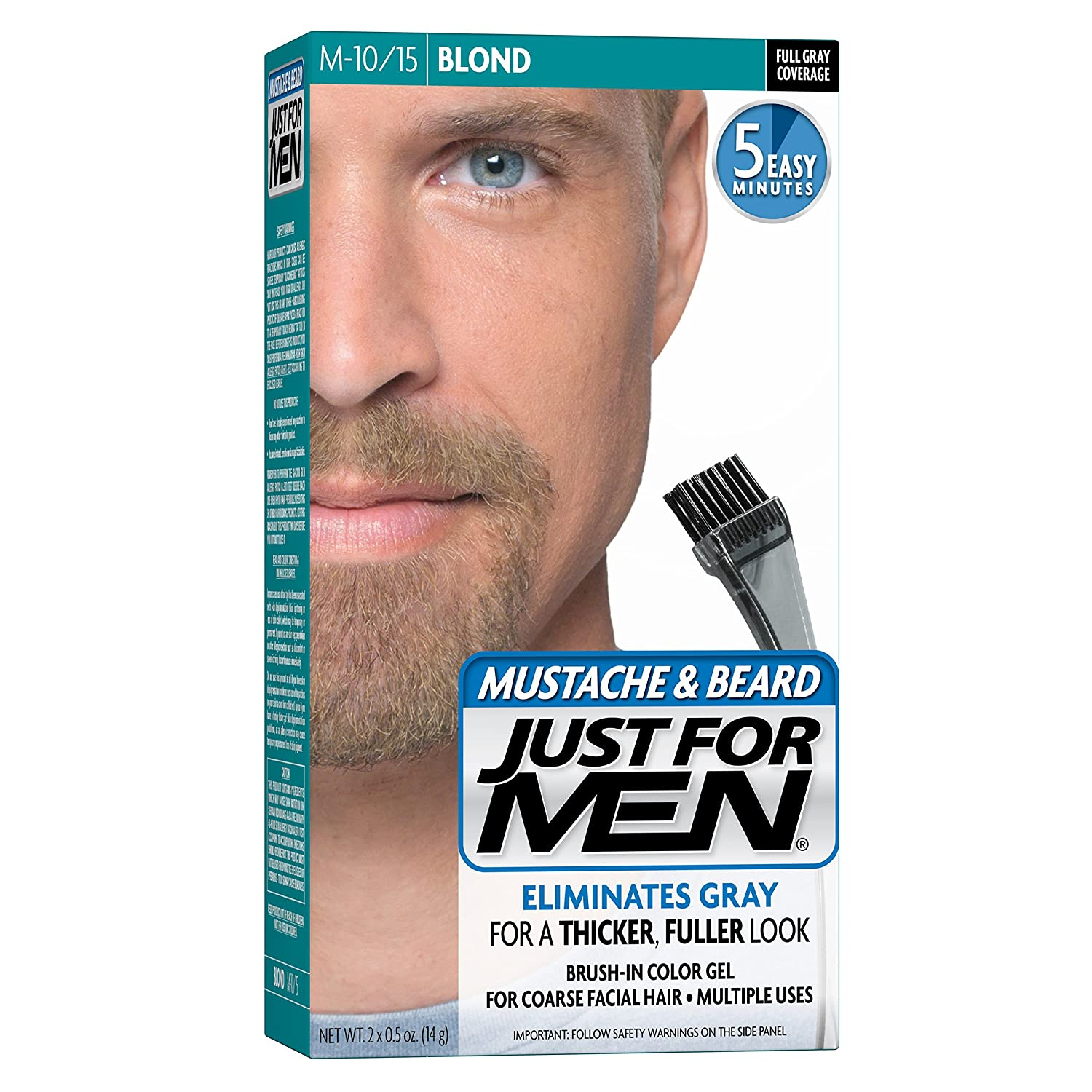 Amazon.com : Just For Men Mustache & Beard, Blond (Pack of 3 ...