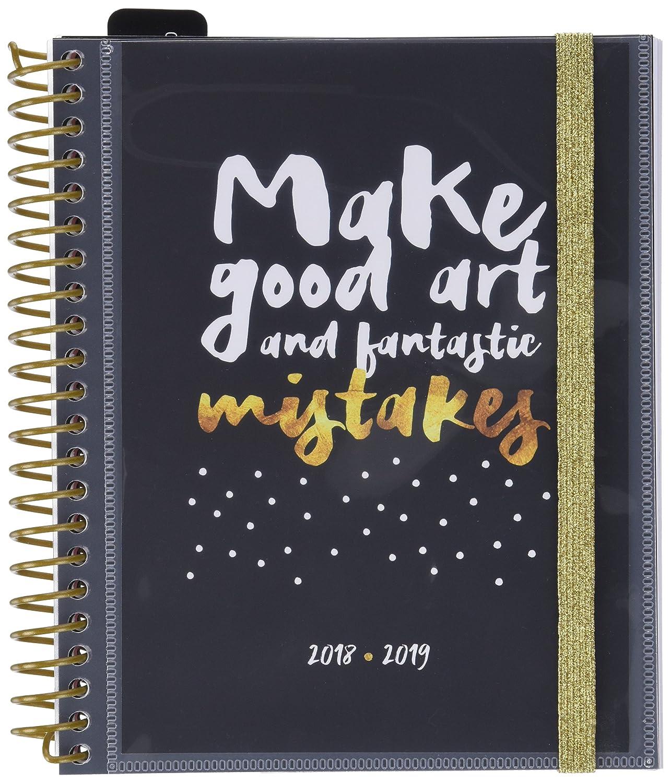Grupo Erik Editores - Agenda escolar GLITTER 2018/2019 Semana vista, 15,5 x 19 cm ASVE1801