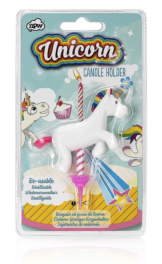 NPW - Portavelas para Tarta de cumpleaños – Unicornio