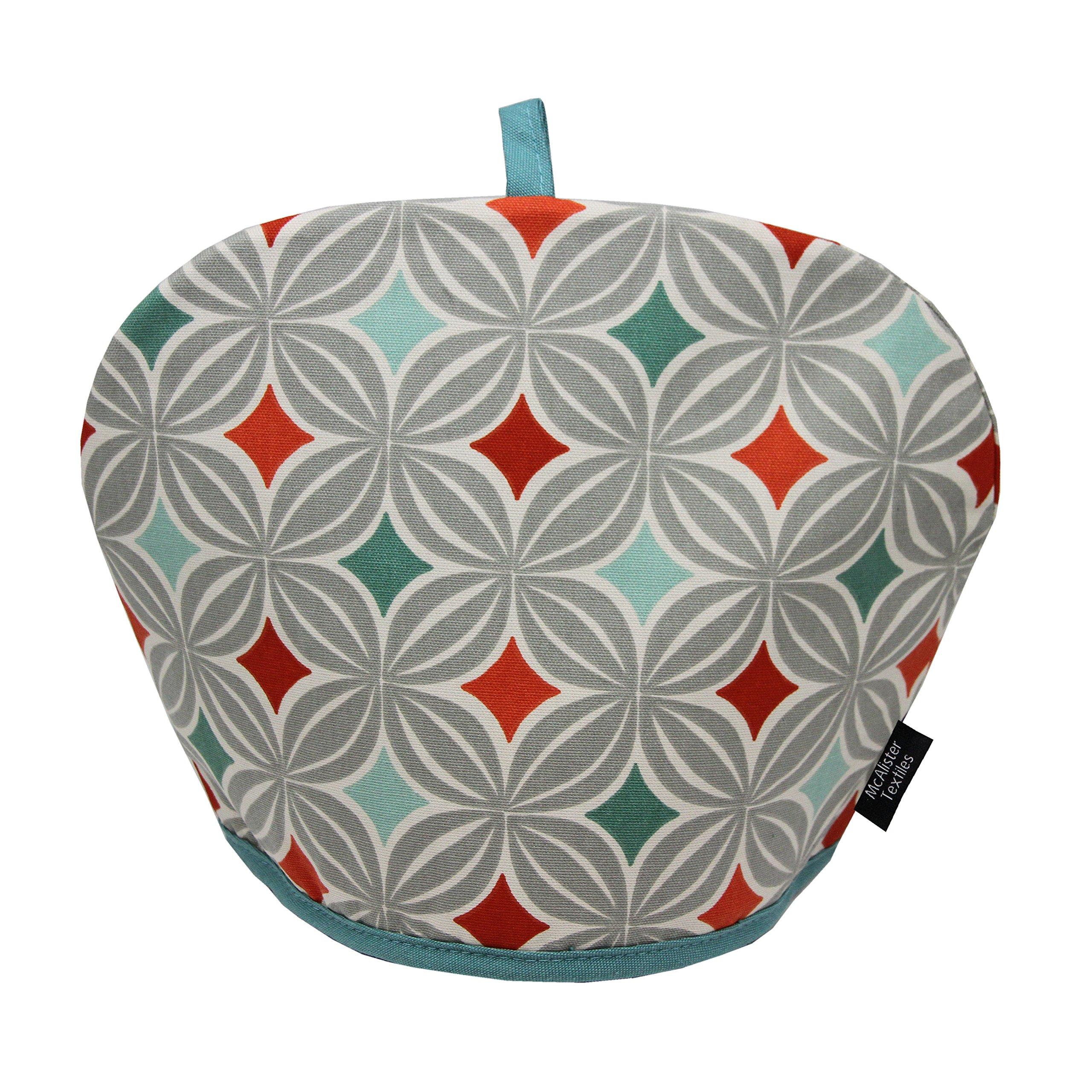 McAlister Laila Designer Decor Tea Cozy Kettle Cover | Terracotta Burnt Orange 100% Cotton | Modern Scandinavian Minimalist Accent