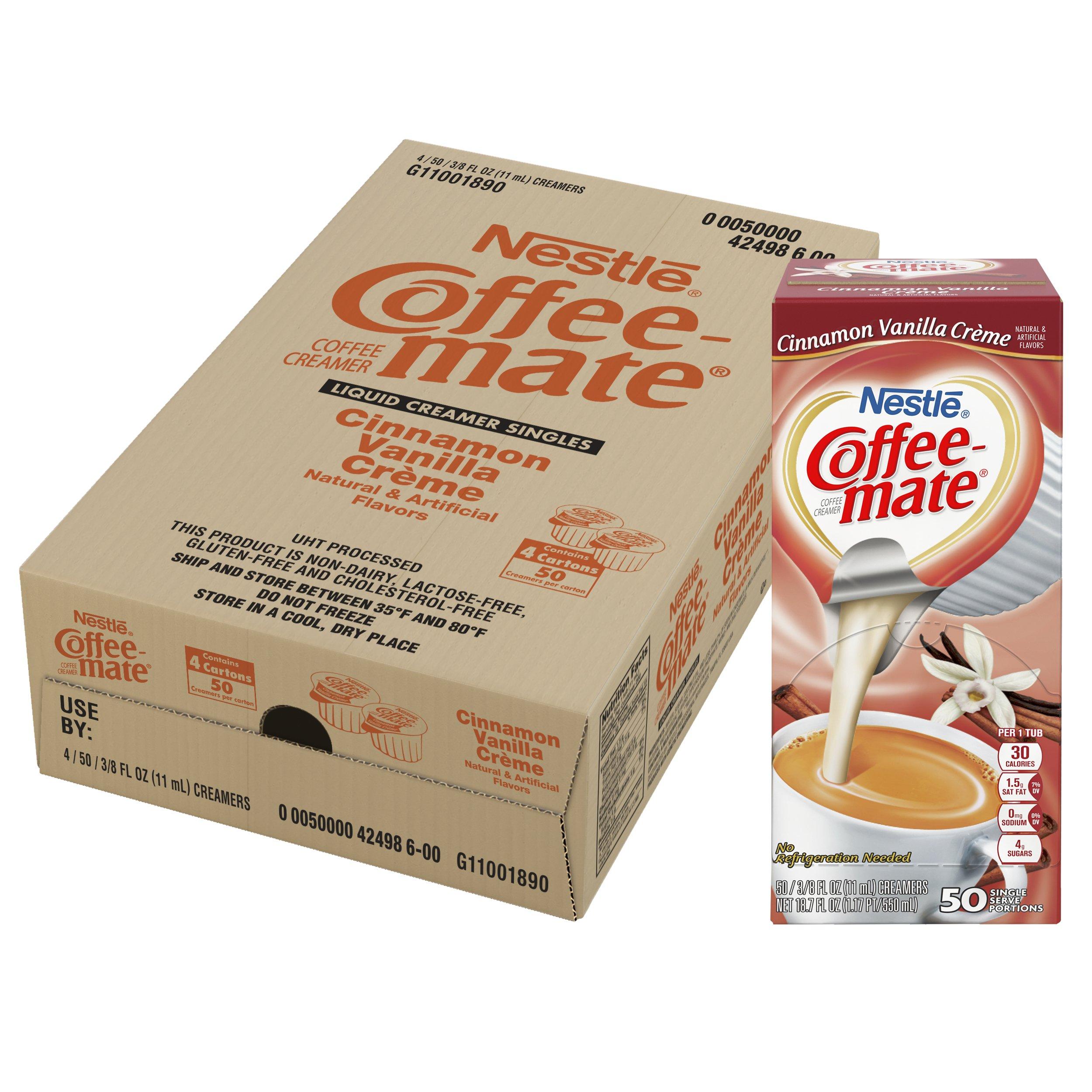 NESTLE COFFEE-MATE Coffee Creamer, Cinnamon Vanilla Creme, 0.375oz liquid creamer singles, 50 Per Box (Case of 4 Boxes) by Nestle Coffee Mate (Image #6)