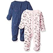 Rosie Pope Baby Girls 2 Pack Coveralls, School Theme, 0-3 Months