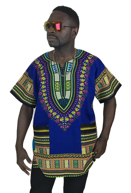 Vipada's Dashiki Shirt African Top Men's Dashiki Navy L q66