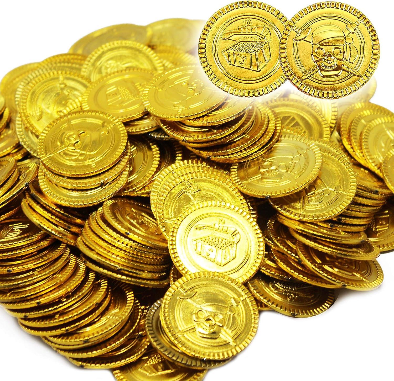 THE TWIDDLERS 180 Plastico Monedas De Oro para Niños | Rellenos De ...