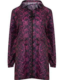 NEW  KAGOUL RAIN MAC LADIES FASHION PRINTED PARKA   Fold Away  Mac  XS  TO XXL