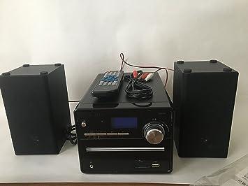 Amazon | DIGITAL SONIC CD/MP3 ミニコンポ ブラック DSCD-M7(BK