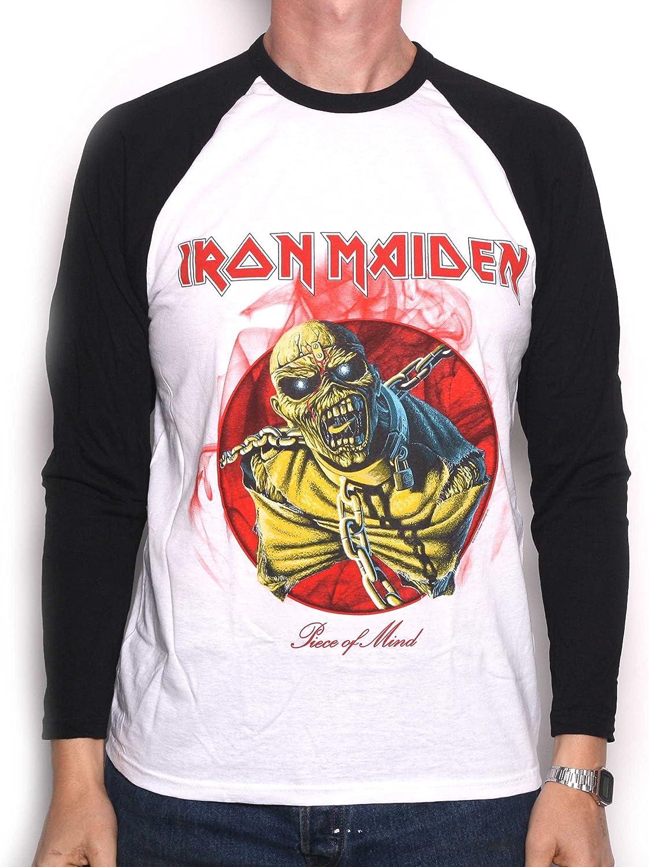 Iron Maiden Camiseta – Piece of Mind Retro manga larga 100% Official Licensed Iron Maiden personalizada Weiß XXL: Amazon.es: Ropa y accesorios