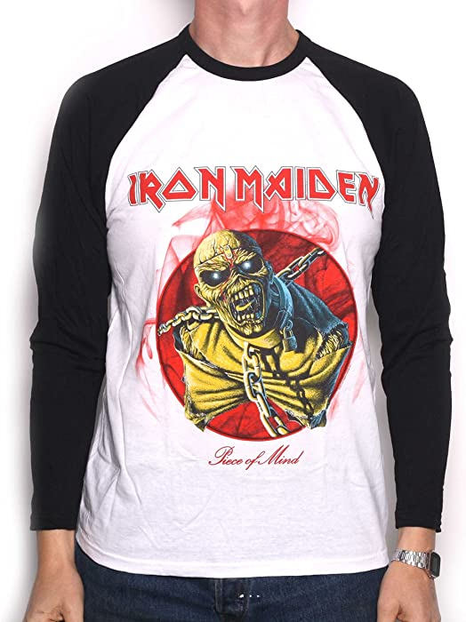 8dbc31f0ce0 Iron Maiden T Shirt - Piece of Mind Retro Long Sleeve 100% Official  Licensed Iron