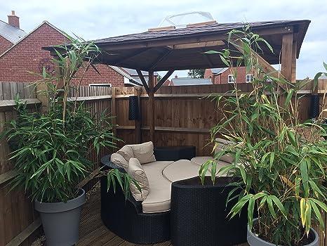Cenador Erin de jardín de madera para bañera caliente – Refugio de ...
