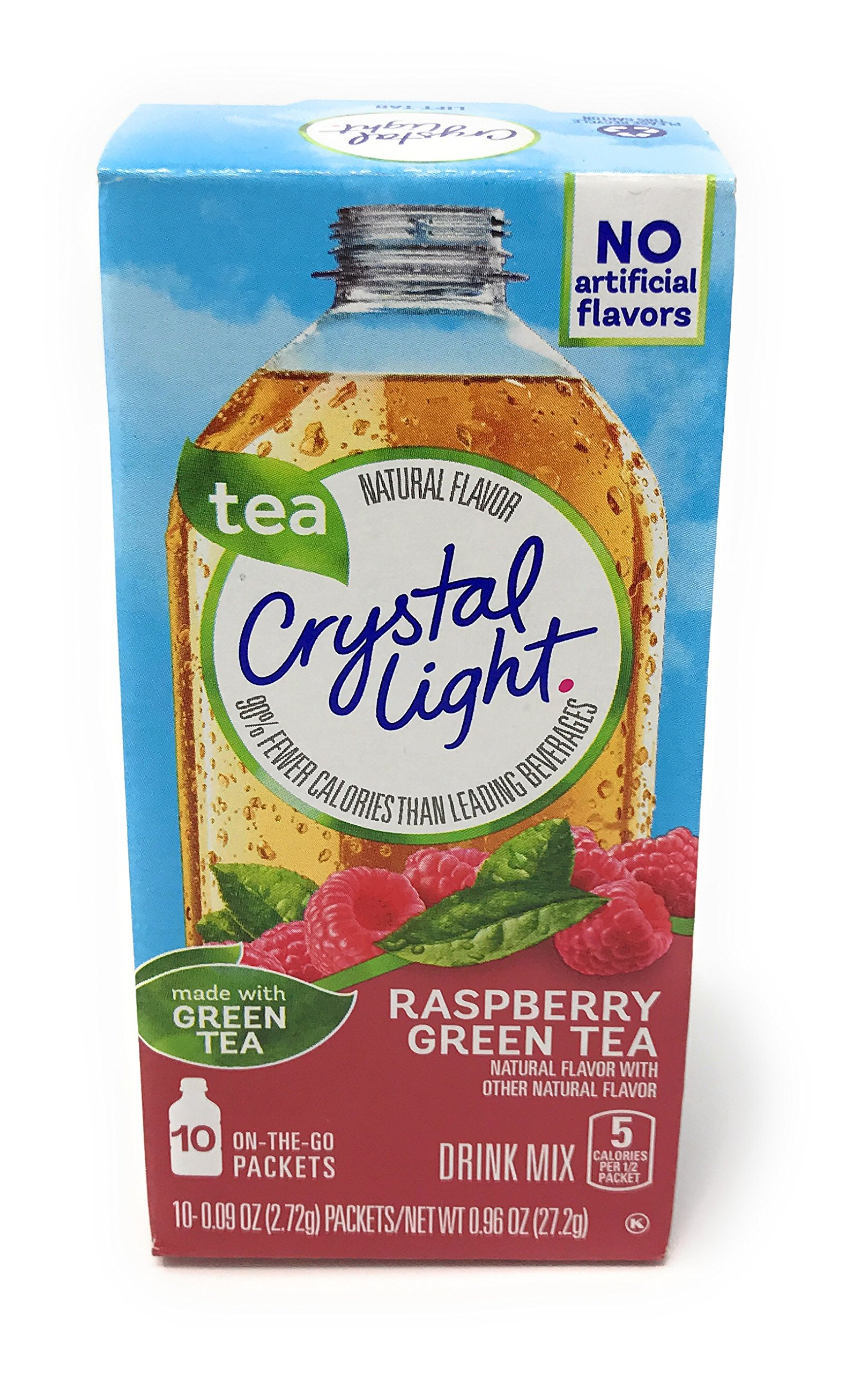 Crystal Light On The Go Raspberry Green Tea, 10-Packet Box (Pack of 4)
