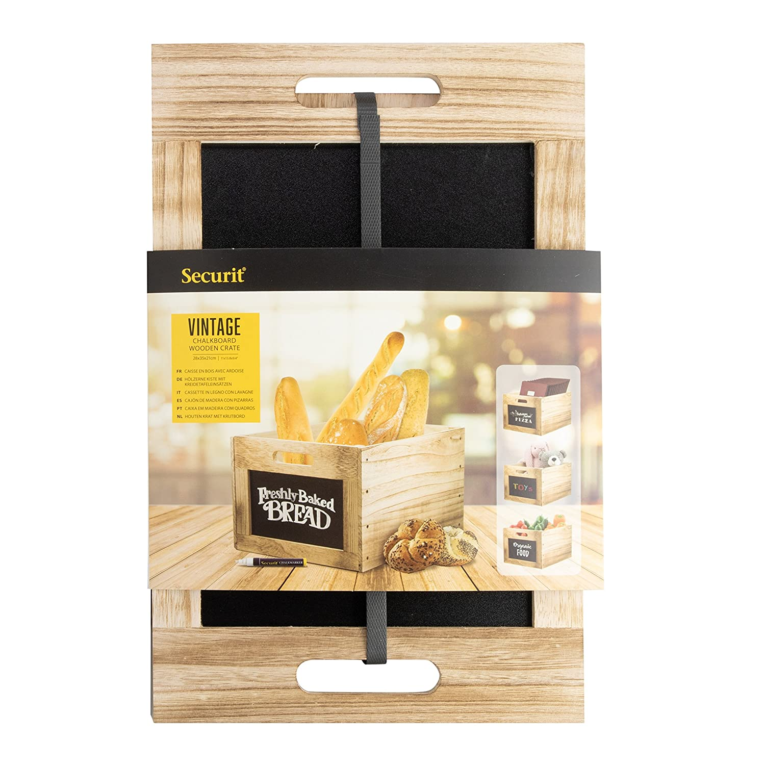 Amazon.com: Set of 6 (8x11x8) Chalk Board Storage Decorative ...