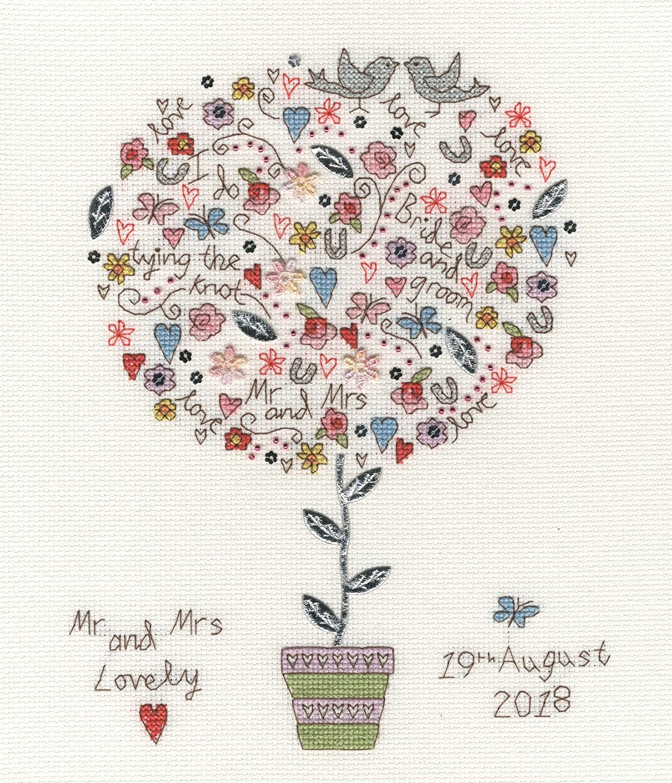 Bothy Threads Cross Stitch Kit Love Vows