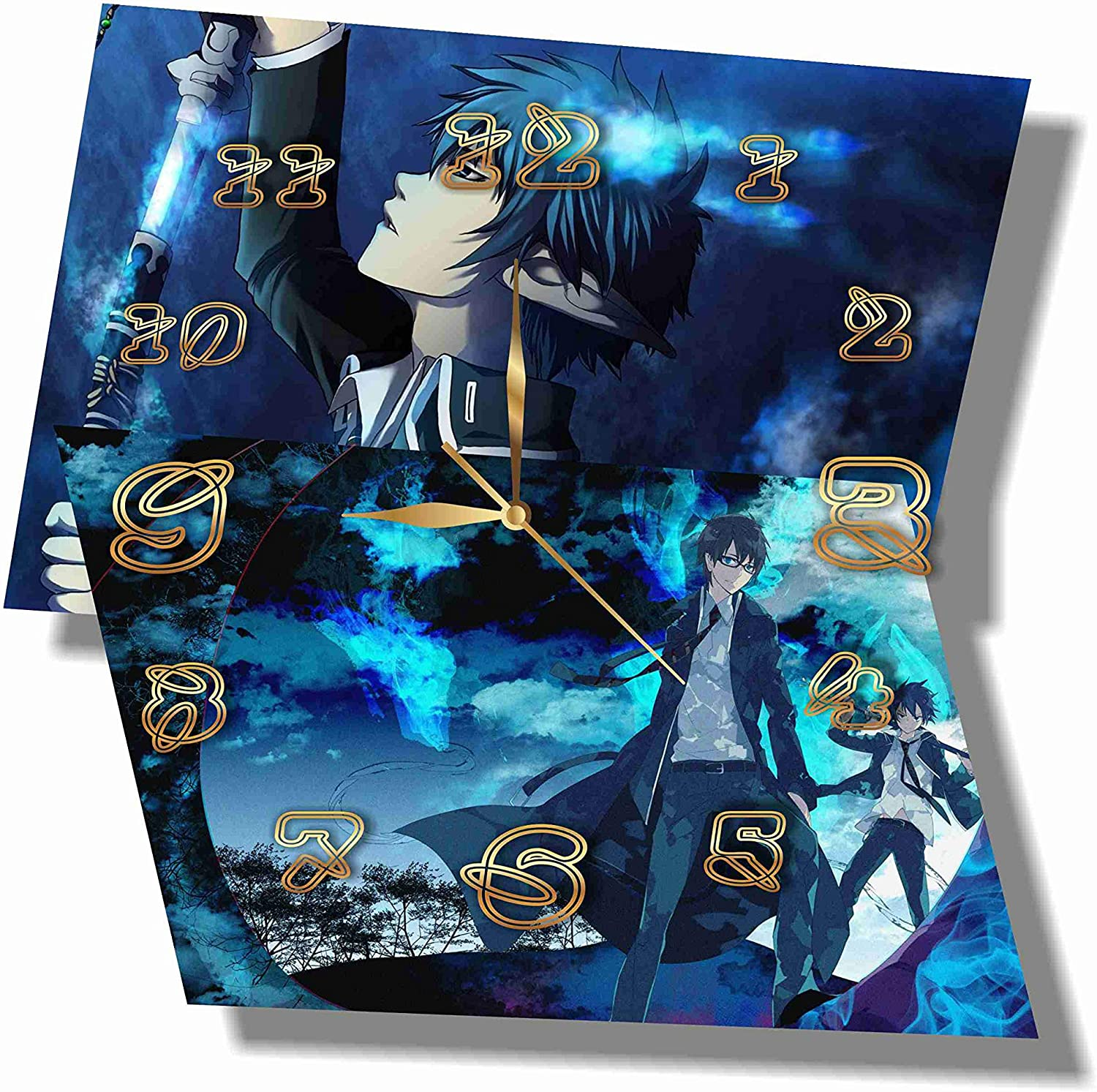 Grapefruit Anime - Ao no Exorcist (Blue Exorcist) 11.8'' Handmade Wall Clock - Get Unique décor for Home or Office – Best Gift Ideas