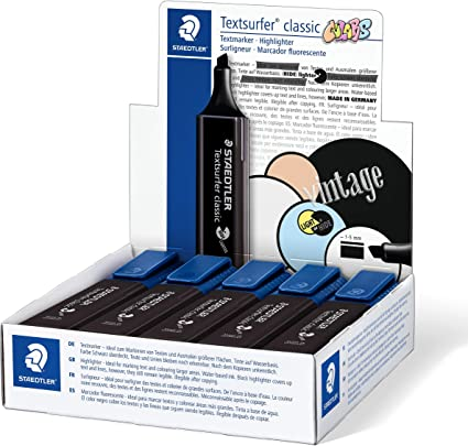 Staedtler 364 C9 Textsurfer Classic Marcador fluorescente, color negro, pack de 10: Amazon.es: Oficina y papelería